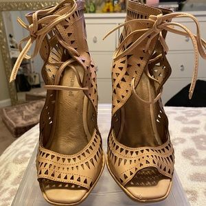 Jeffrey Campbell Lace Up Wedges- size 10